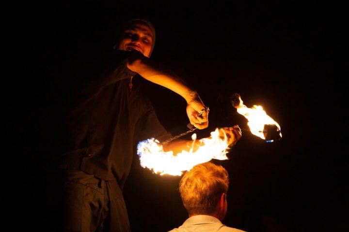 Coco Tam'sissa järjestetään tulishow joka ilta.