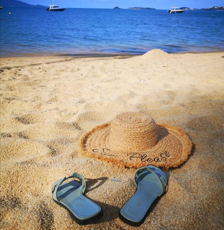 Blogin pitäjät lomalla Koh Samuilla, viimeinkin.