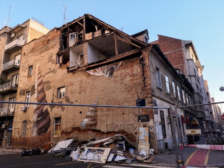 Maanjäristys teki Zagrebissa suuria tuhoja, jotka ovat nähtävillä edelleenkin.
