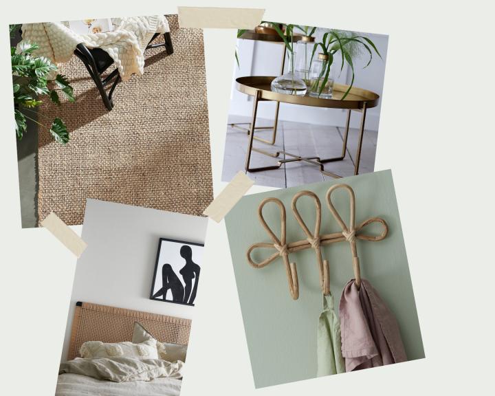 Esimerkkejä millaisia esineitä ja huonekaluja etsimme kotiimme.