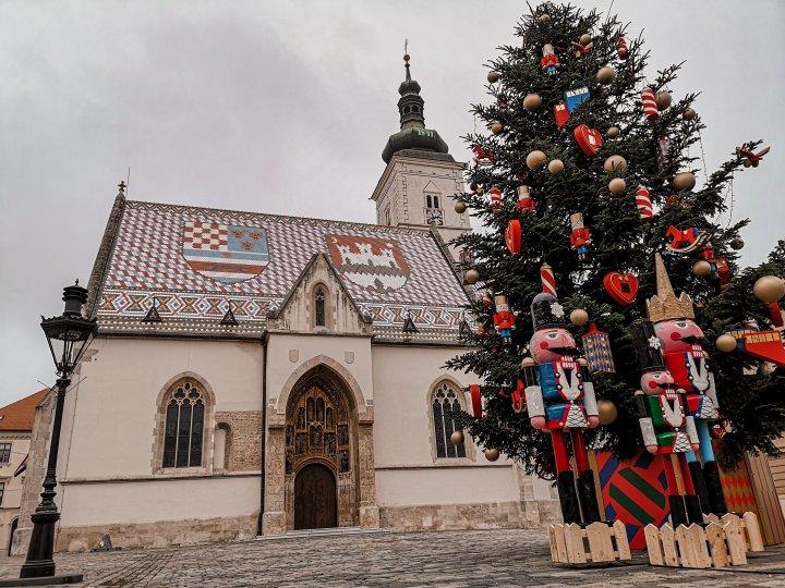 St.Markin keskiaikatyylinen katolinen kirkko rakennettiin 1200-luvulla.