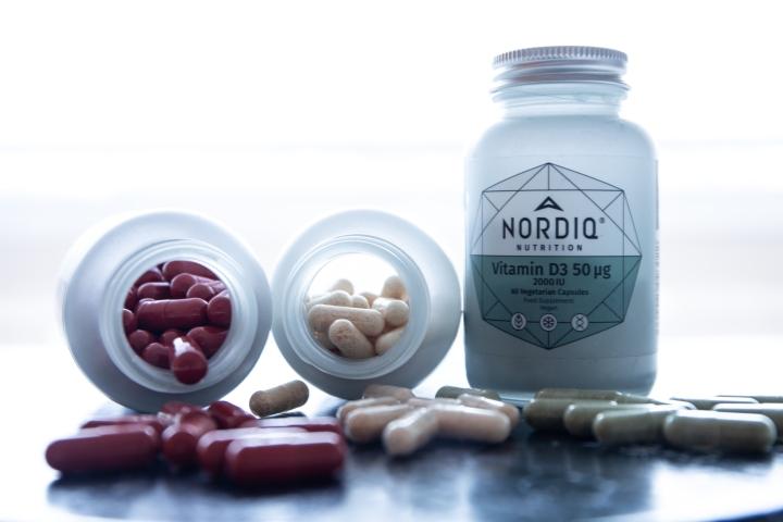 Kaikki NORDIQ Nutritionin vitamiinit sopivat vegaaneille.