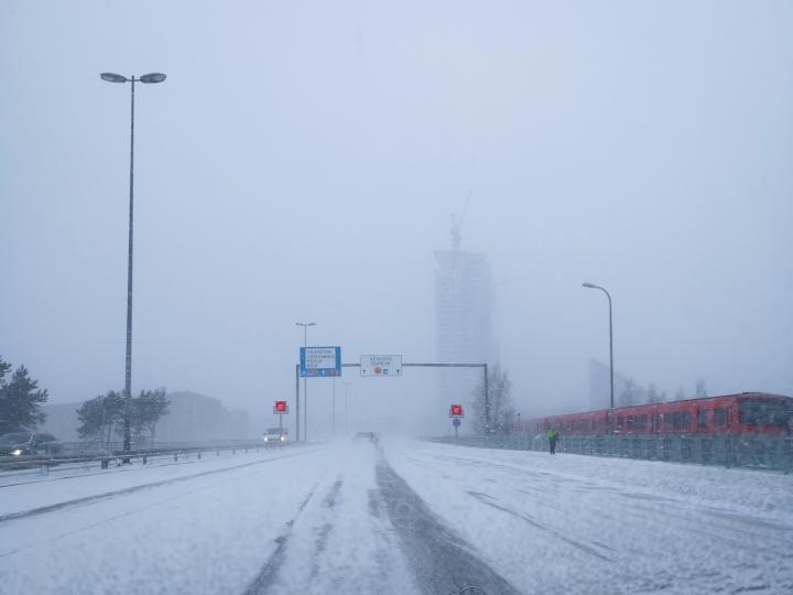Helsinkiin muutto edessä! Näkyvyys ei ollut vierailupäivänä kovinkaan kummoinen.